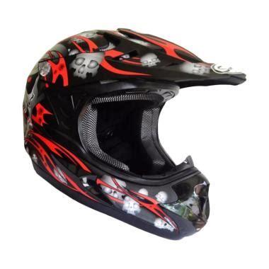 Snail Helm 309 Jual Snail Mx309 Motocross Motif Skull Helm