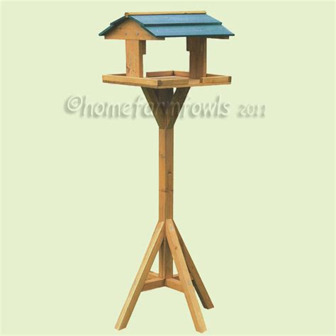 wooden wild bird table home farm fowls