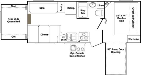 outback travel trailer floor plans 2007 keystone outback travel trailer floor plan carpet