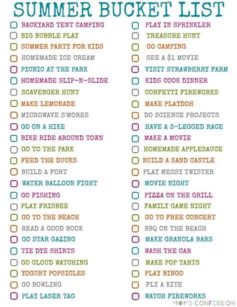 100 fun ideas for your families summer bucket list