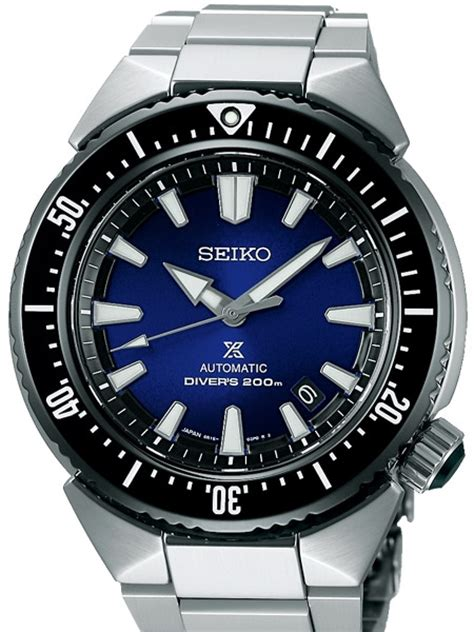 Seiko Trans Ocean Prospex Automatic Dive Watch with Blue Dial and Stainless Steel Bracelet #SBDC047