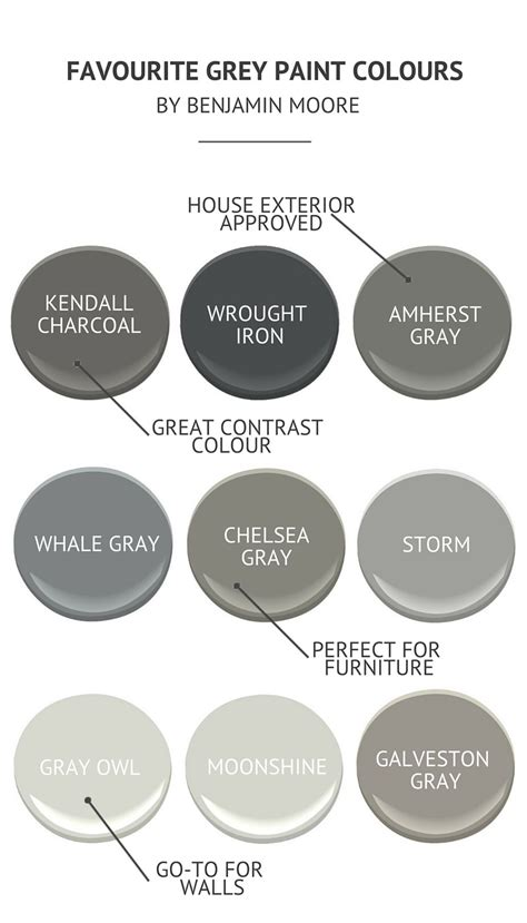 gray paint colors grey paint colours by benjamin