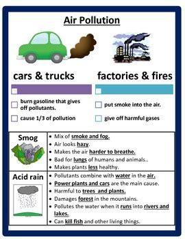 pollution  conservation study guide  cammies corner
