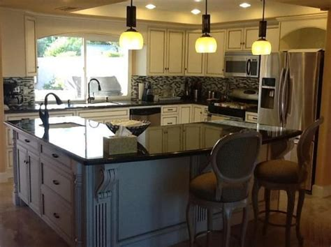 kitchen with l shaped island l shaped kitchen island for dining table kitchenskils com