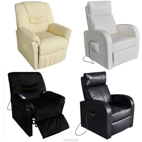 Electric Recliner Rocking Chair Electric 10 In 1 Winged Leather Recliner Chair