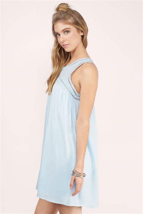 Light Blue Day Dress Light Blue Dress Babydoll Mini