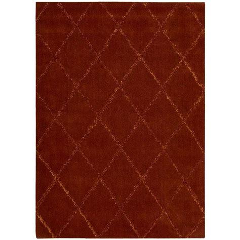 Area Rugs Overstock Nourison Overstock Monterey Rust 3 Ft 6 In X 5 Ft 6 In Area Rug 089700 The Home Depot