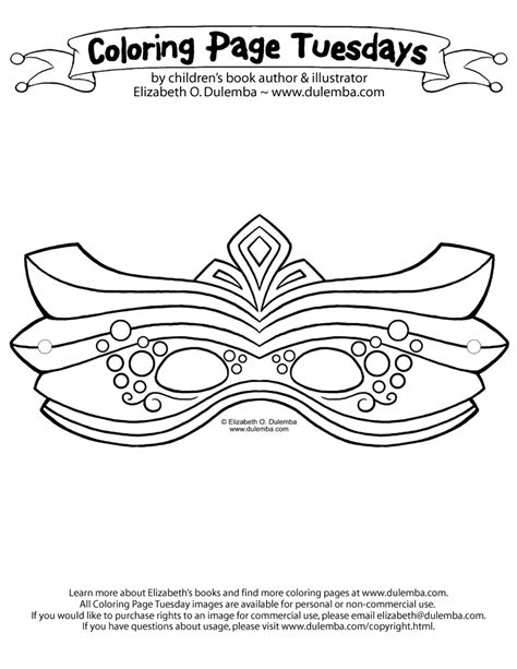 masquerade mask template coloring pages