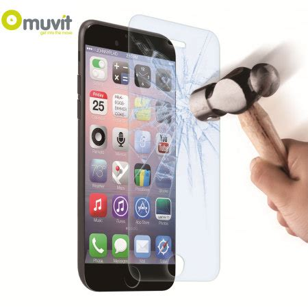 Anti Samsung Iphone Anti Shock Back muvit anti shock tempered glass iphone 6s 6 screen protector