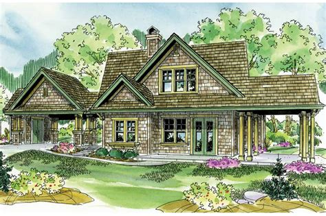 Two Story Craftsman Style House Plans shingle style house plans longview 50 014 associated