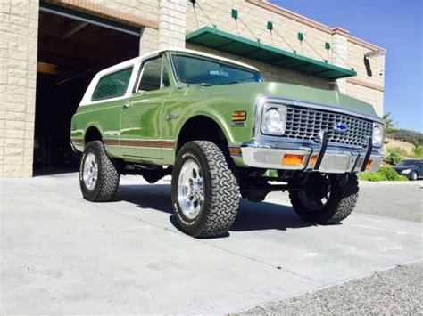 chevy baja truck 1972 chevy quot baja blazer quot turnkey truck k5 4x4 clear