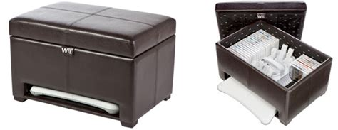 Levelup Wii Storage Ottoman Keeps Your Gaming Gear Neat Tidy Gaming Storage Ottoman