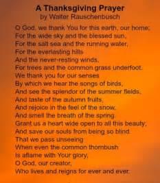 a thanksgiving prayer by walter rauschenbusch