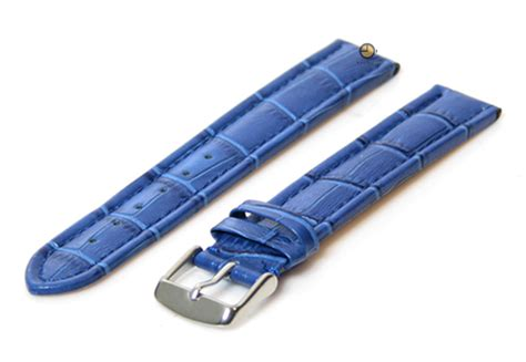Hb Croco Doff Blue watchstrap 18mm blue free shipping