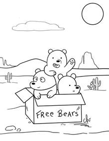we bare bears colouring page by cutelittlevixen on deviantart