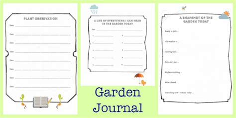 garden journal template the garden classroom nurturestore