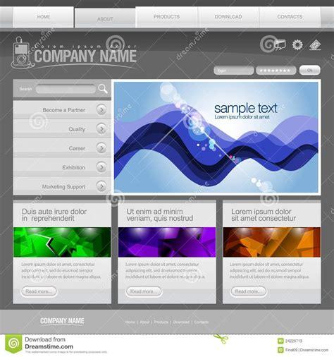 Gray Website Template 960 Grid Stock Vector Illustration 24220713 Grid Website Templates Free