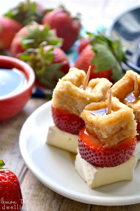 strawberry brie waffle bites recipe brunch appetizers