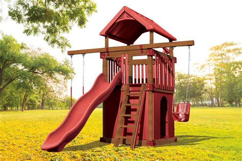 Kc 1 Clubhouse Kids Backyard Vinyl Playset Swing Kingdom