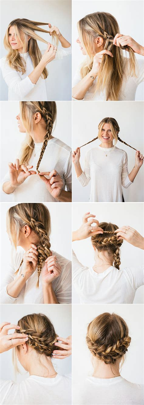 Simple Braid Hairstyles by Horseshoe Braid Simple Braids Updo And