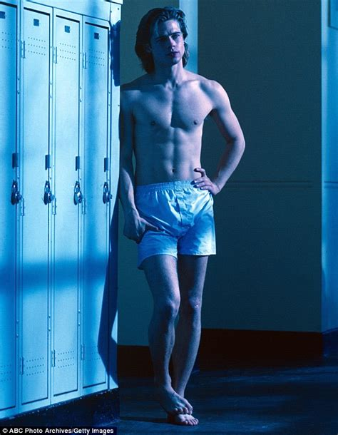 dream boat tv show brad pitt in a pair of boxers in photo from before he was