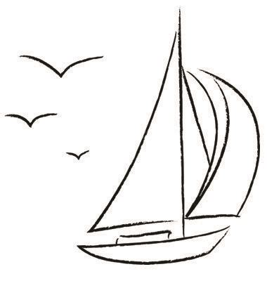 sailboat outline vector free free vector chalk sailboat with birds outline vector