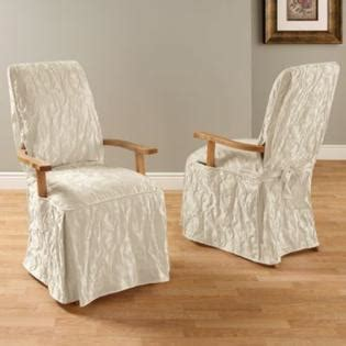 Slipcovers For Chairs With Arms Sure Fit Matelasse Damask Dining Room Chair With Arms