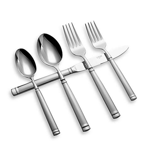 bed bath and beyond silverware towle stephanie 20 piece flatware set bed bath beyond