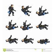 Navy Seal Game Animation Sprite Stock Vector  Image 56978837