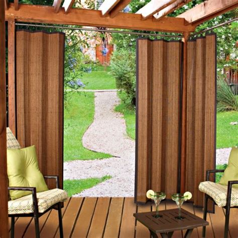 bamboo outdoor curtains outdoor bamboo curtain panels new deck pinterest