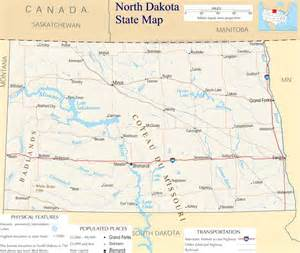 North Dakota Map Usa by North Dakota State Map A Large Detailed Map Of North
