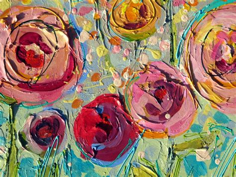 mixed media acrylic painting ideas nancy standlee sweet summer roses 12101 mixed