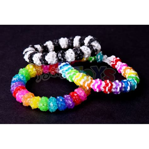 rainbow loom gumdrop bracelet design tutorial and template