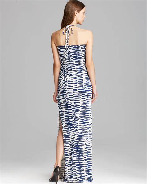 Saidah Maxi Umbrella Jersey Alijaya 1 lyst maxi dress high neck zebra jersey in blue