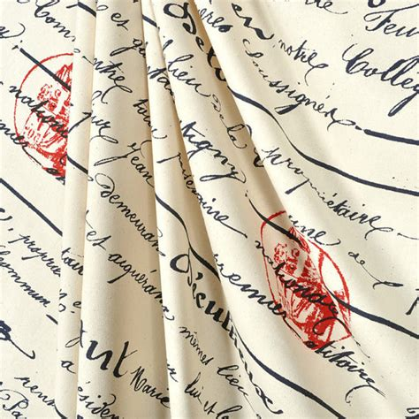 french script shower curtain shower curtain french penmanship size 72x72 navy script red