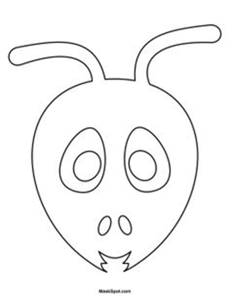 Printable Ant Mask Template | ant mask templates including a coloring page version of