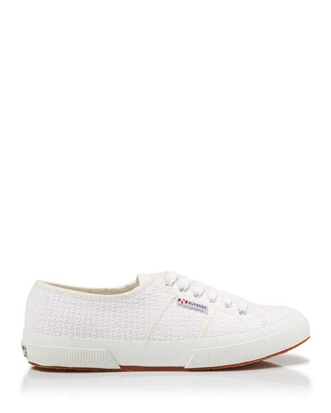 white lace sneakers superga lace up sneakers crochet in white lyst