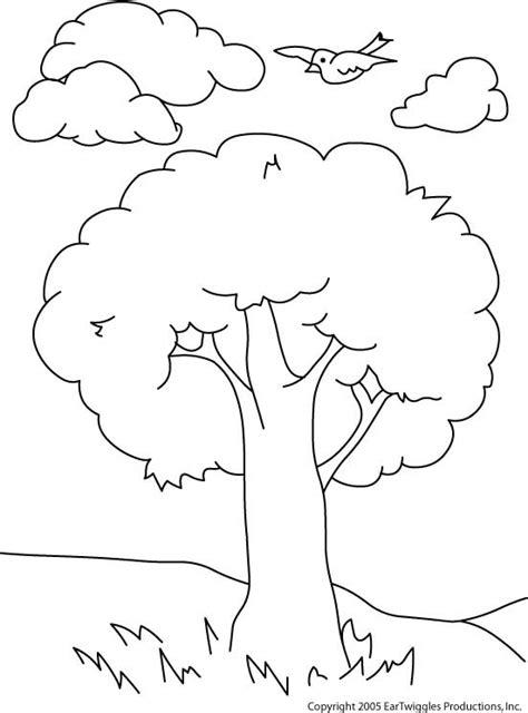 Mundo Encantado da Nitinha: Desenho para colorir - Árvore