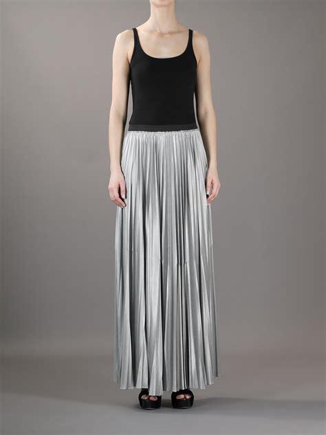pleated chiffon maxi skirt dress ala silver pleated maxi skirt dress ala