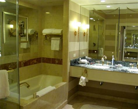 las vegas hotel with tub in room restroom of room 130 ft sq ft bathroom with tub w separate glass enclosed