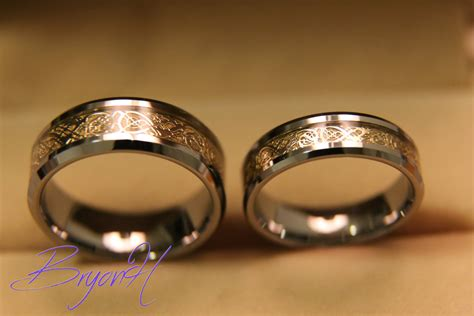 wedding rings tungsten wedding bands set matching size tungsten wedding