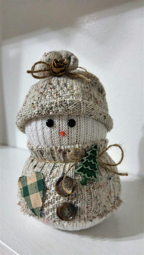 diy sock snowman ornament sock snowman pinteres