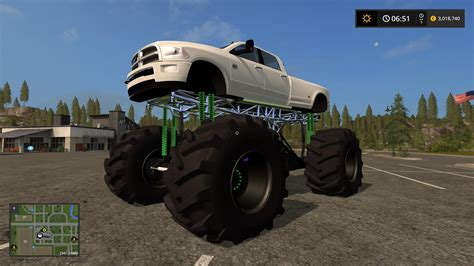 dodge mud truck dodge mud truck lifted v1 0 ls 2017 farming simulator