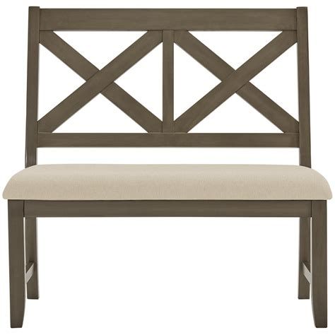 bench omaha city furniture omaha gray dining bench
