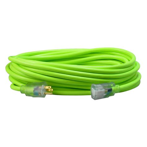 Southwire 25 Ft 12 3 Sjtw Hi Visibility Outdoor Heavy Outdoor Light Extension Cords