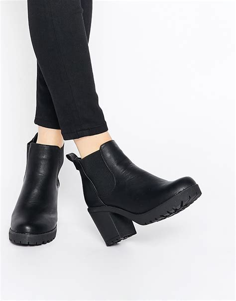 heeled chelsea boots truffle collection platform heeled chelsea boots at