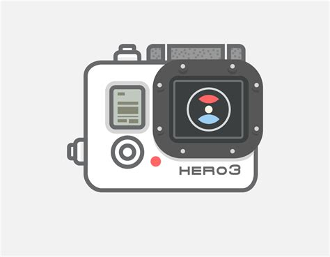 Clip Gopro gopro vector icon illustrations on