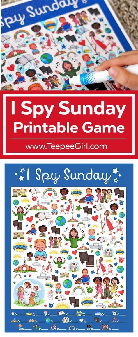 printable games for sunday school free i spy sunday printable game sunday school churches