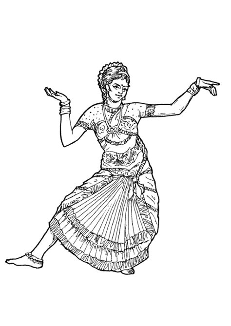 L Drawing Image by Coloriage Danse Hindou