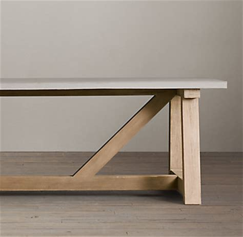 salvaged wood weathered concrete beam rectangular dining